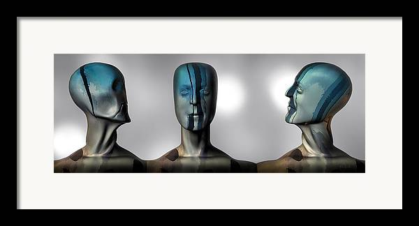Man Framed Print featuring the digital art Almost Man In The Middle by Bob Orsillo