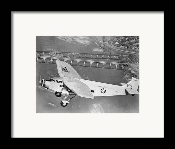 American Airlines Framed Print featuring the photograph American Airlines Tri-motor by Henri Bersoux