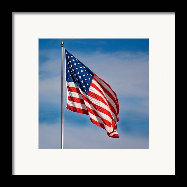 America Framed Print featuring the photograph American Flag by Benjamin Reed