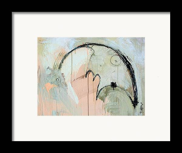 Contemporary Framed Print featuring the painting An Allegory Of Things Unknown 6 by Mark M Mellon