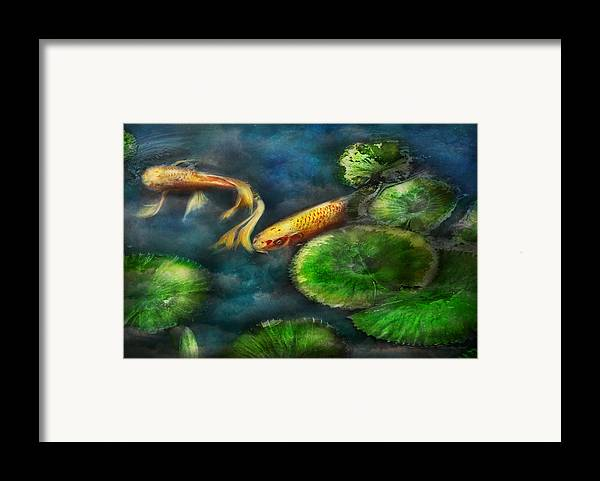 Savad Framed Print featuring the photograph Animal - Fish - The Shy Fish by Mike Savad