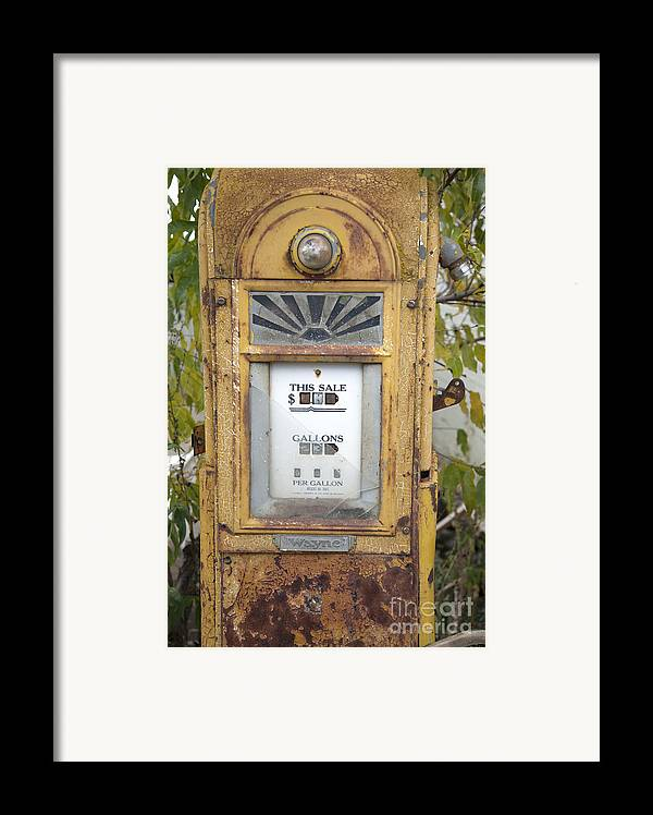 Abandoned Framed Print featuring the photograph Antique Gas Pump by Peter French