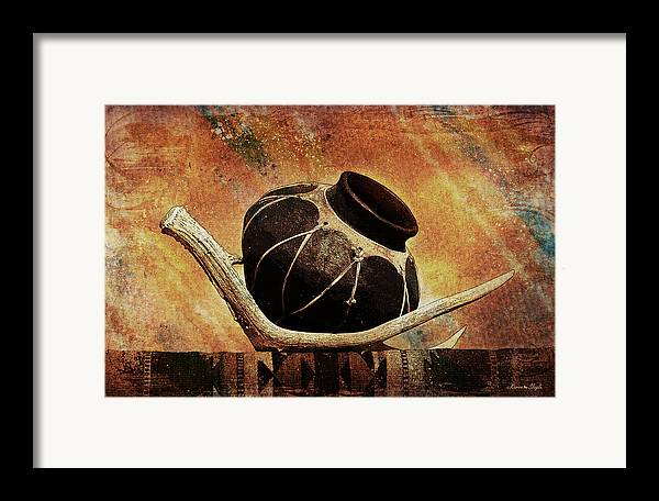 Antler Framed Print featuring the photograph Antler And Olla by Karen Slagle