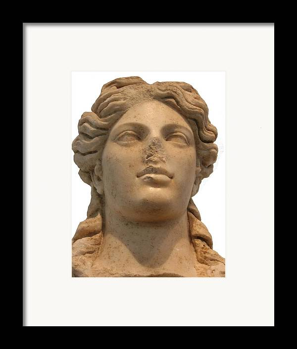 Aphrodisias Framed Print featuring the sculpture Aphrodite The Goddess Of Love And Beauty by Tracey Harrington-Simpson