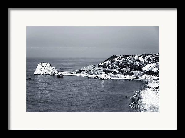 Aphrodite's Coast Framed Print featuring the photograph Aphrodite's Coast by John Rizzuto