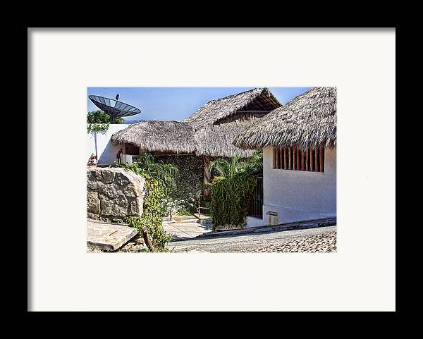 Travel Framed Print featuring the photograph Architecture With Thathed Roofs by Linda Phelps
