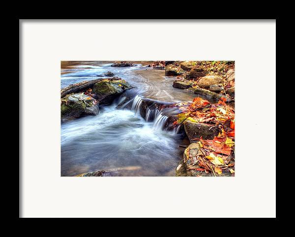 Fall Framed Print featuring the photograph Art For Crohn's Hdr Fall Creek by Tim Buisman