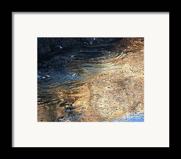 Big Sur Framed Print featuring the photograph As The Ocean Wave Swirled It Looked Like Gold by Artist and Photographer Laura Wrede