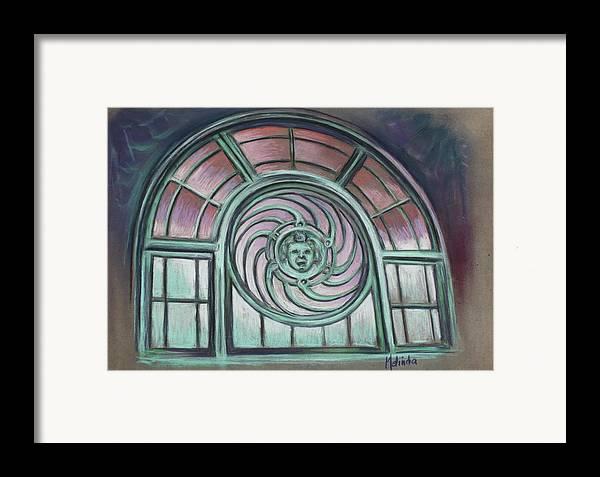 Asbury Park Framed Print featuring the painting Asbury Park Carousel Window by Melinda Saminski