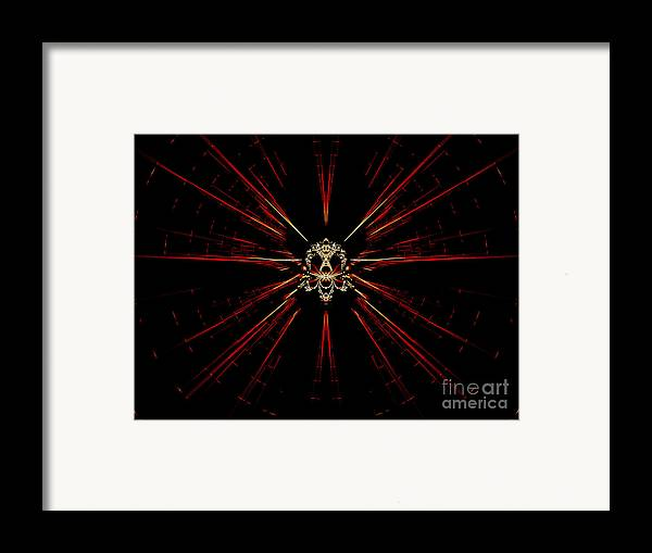 Digital Framed Print featuring the digital art At The Core by Renee Trenholm