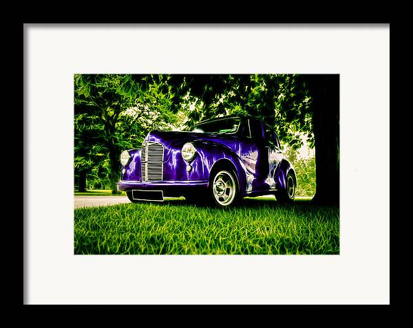 British Hot Rod Framed Print featuring the photograph Austin Hot Rod by motography aka Phil Clark