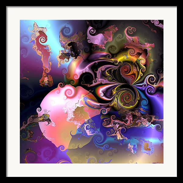 Abstract Framed Print featuring the digital art Aw 32 by Claude McCoy