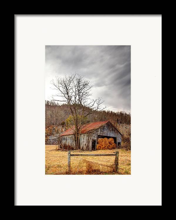 Barn Framed Print featuring the photograph Awaiting Spring by David Jones