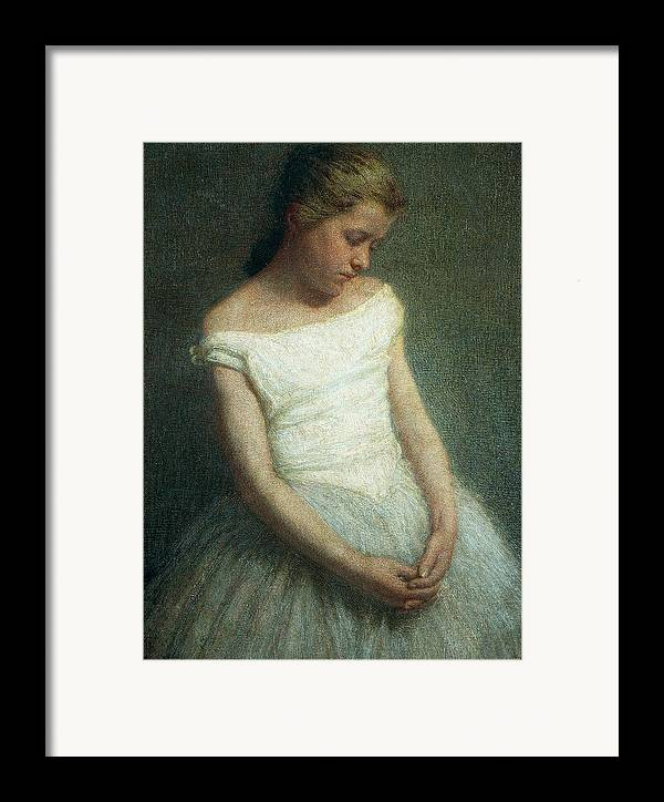 Painting; 19th Century Painting; 20th Century; Europe; Italy; Morbelli Angelo; Dancer (female); Glance; Post-impressionism Framed Print featuring the painting Ballerina Female Dancer by Angelo Morbelli
