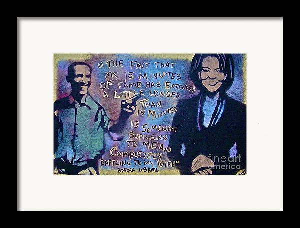 Barack Obama Framed Print featuring the painting Barack With Michelle by Tony B Conscious