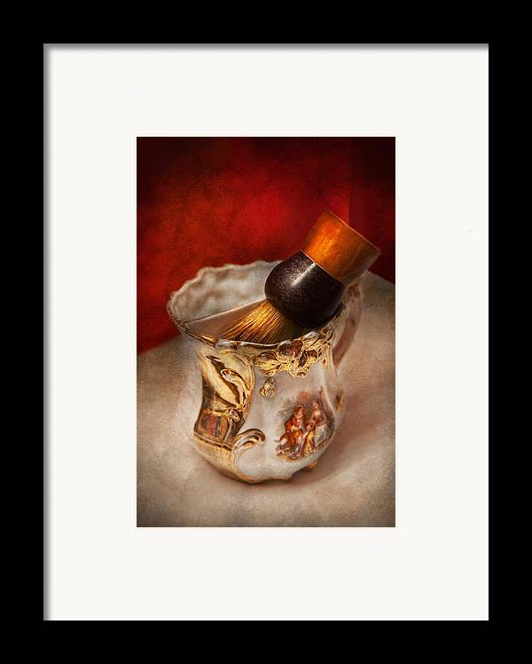 Barber Framed Print featuring the photograph Barber - Shaving - The Beauty Of Barbering by Mike Savad