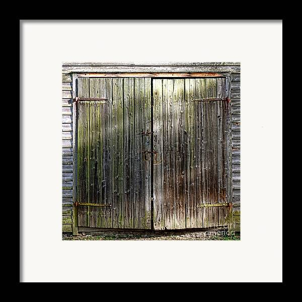 Barn Framed Print featuring the photograph Barndoors by Olivier Le Queinec