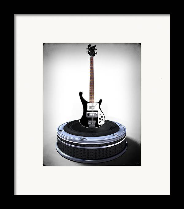 Music Framed Print featuring the digital art Bass Desplay V1 by Frederico Borges