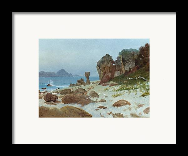 American Framed Print featuring the painting Bay Of Monterey by Albert Bierstadt