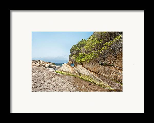 Ocean Framed Print featuring the photograph Beach At Montana De Oro by Artist and Photographer Laura Wrede