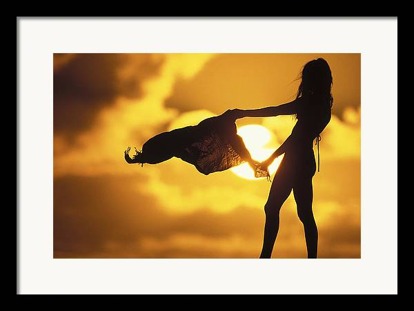 Surf Lifestyle Framed Print featuring the photograph Beach Girl by Sean Davey