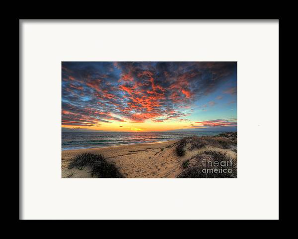 Manateevoyager Framed Print featuring the photograph Beachcombers Sunset by English Landscapes