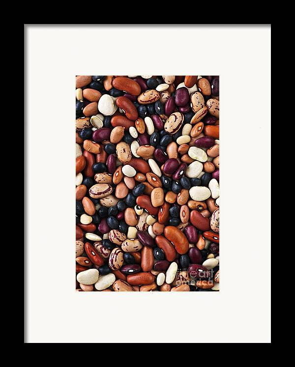 Beans Framed Print featuring the photograph Beans by Elena Elisseeva