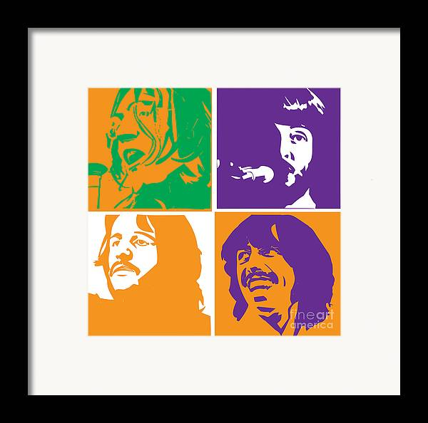 Artwork Framed Print featuring the digital art Beatles Vinil Cover Colors Project No.02 by Caio Caldas