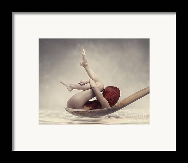 Woman Framed Print featuring the photograph Beauty Bath by Jelena Jovanovic
