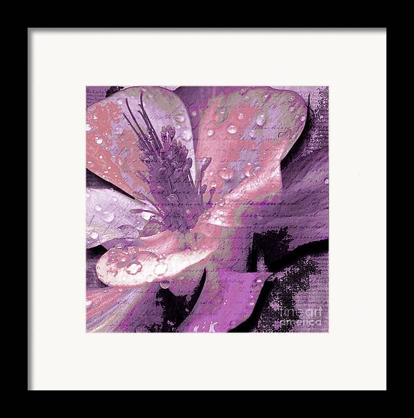 Framed Print featuring the mixed media Beauty Ix by Yanni Theodorou