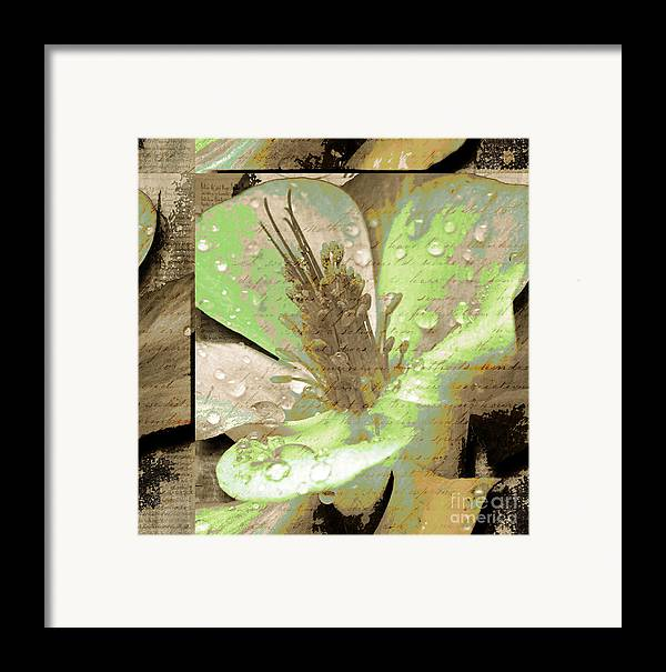 Framed Print featuring the mixed media Beauty X by Yanni Theodorou