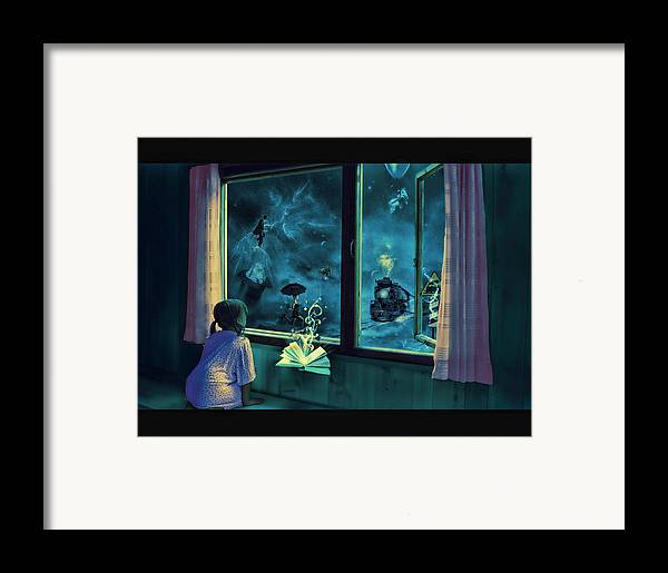 Bedtime Framed Print featuring the photograph Bedtime Stories by Erik Brede