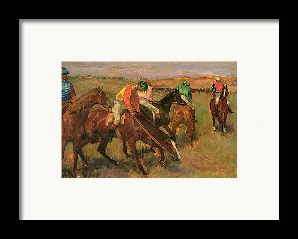 Before The Races Framed Print featuring the painting Before The Races by Edgar Degas