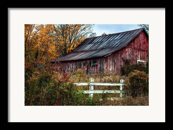 Barn Framed Print featuring the photograph Berkshire Autumn - Old Barn Series  by Thomas Schoeller