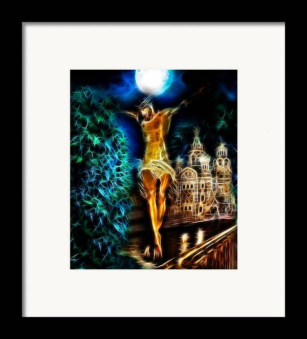 Christian Framed Prints Framed Print featuring the photograph Between Heaven And Earth by Karen Showell