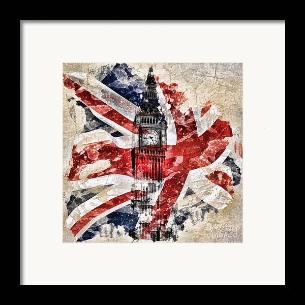 Big Ben Framed Print featuring the painting Big Ben by Mo T
