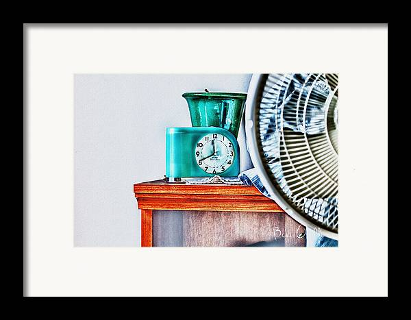 Fan Framed Print featuring the photograph Big Ben Moon Beam by Bob Orsillo