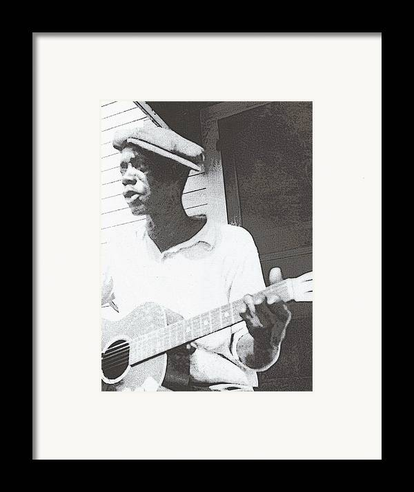 Guitar Framed Print featuring the photograph Bill Tatnall 1935 by Daniel Hagerman