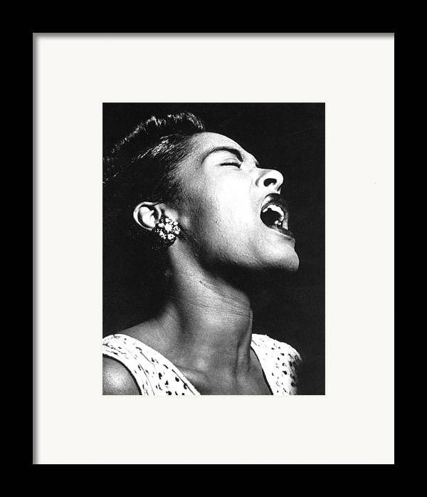 1948 Framed Print featuring the photograph Billie Holiday (1915-1959) by Granger
