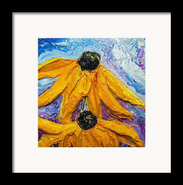 Black Eye Susan Paintings Framed Print featuring the painting Black Eyed Susie's by Paris Wyatt Llanso