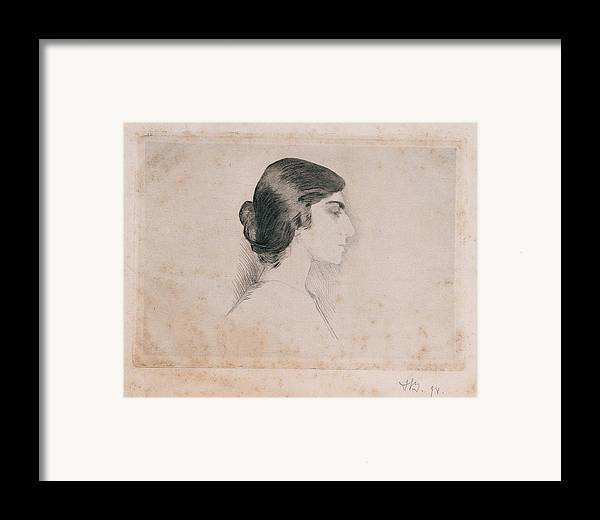 Self Portrait Framed Print featuring the photograph Blood Florence, Self-portrait, 1898 by Everett