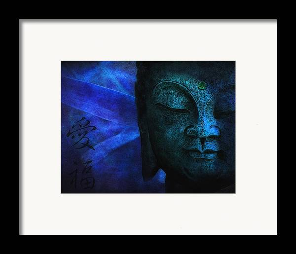 Buddha Framed Print featuring the photograph Blue Balance by Joachim G Pinkawa