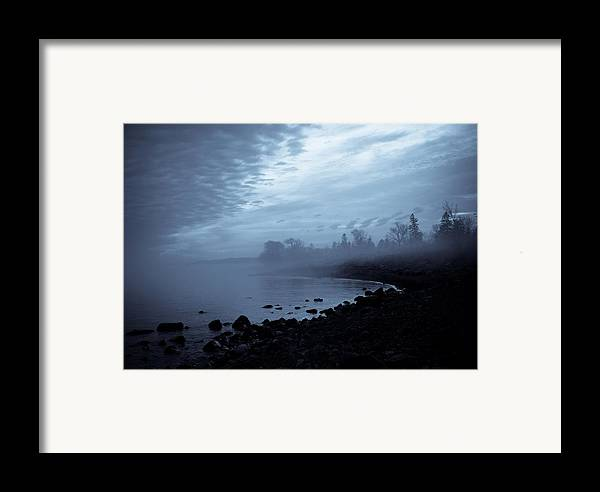 Fog Framed Print featuring the photograph Blue Hour Mist by Mary Amerman