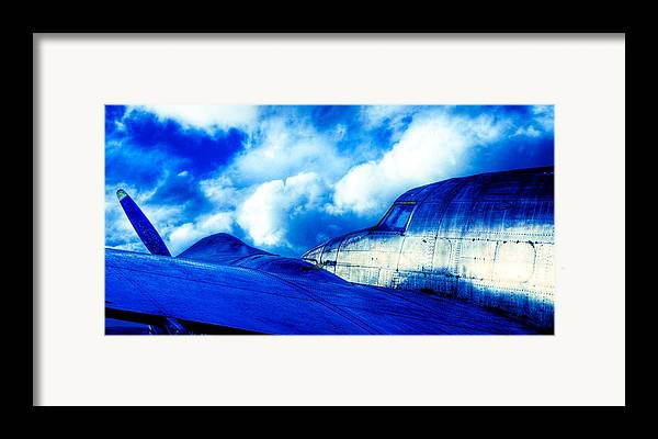 Lockheed Hudson Framed Print featuring the photograph Blue Hudson by motography aka Phil Clark