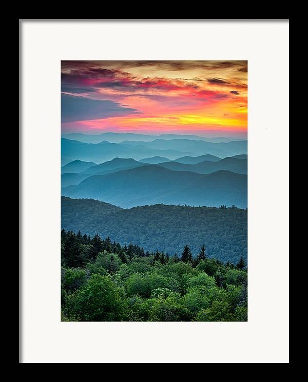 Blue Ridge Mountains Framed Prints, Blue Ridge Mountains ...