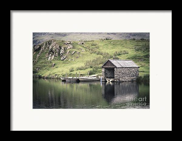 Boat Framed Print featuring the photograph Boathouse by Jane Rix