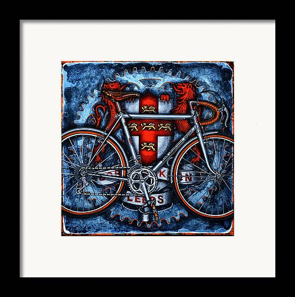 Bicycle Framed Print featuring the painting Bob Jackson by Mark Howard Jones