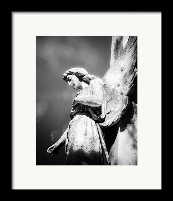 Angel Framed Print featuring the photograph Bokeh Angel In Infrared by Sonja Quintero