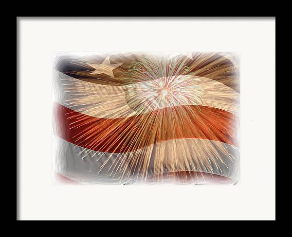 4th Framed Print featuring the photograph Bombs Bursting In Air by Heidi Smith