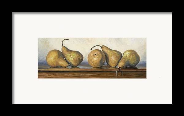 Pear Framed Print featuring the painting Bosc Pears by Lucie Bilodeau
